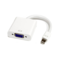DYNAMIX Mini Display Port to VGA Adapter Supports DisplayPort 1.1a. White Colour 180mm long