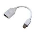 DYNAMIX Mini DisplayPort to DisplayPort Adapter White Colour 180mm long