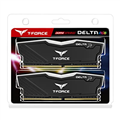 TeamGroup  16GB (8GB X 2) DDR4-2666  DELTA II BLACK HS WITH RGB LED GAMING MEMORY TF3D416G2666HC15BDC01