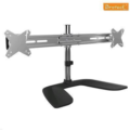 LDT02-T02 Free Standing Elegant Aluminium Dual LCD VESA Desk Stand Support two monitors up to 24""