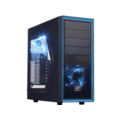 DeepCool Tesseract SW Black Tower Case Side Window Includes 2 Blue 120mm LED Fans no PSU