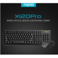 Rapoo X120PRO wired keyboard and mouse combo