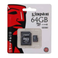 Kingston SDCX10/64GB 64GB MicroSDHC Class10 UHS-I Micro Secure Digital Card with Adaptor
