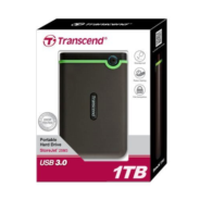 Transcend StoreJet TS1TSJ25M3 1TB USB3.0 Dual Stage Anti-Shock External HDD