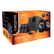 Creative  Inspire T6300 5.1 Surround Speaker System with Wired Remote Control for Music, Movies and Games