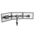 LDT06-C03 Articulating Three Screen Desk Mount Bracket for 13-27 Inch Flat Panel TVs or Monitors - Up to 8kg per arm
